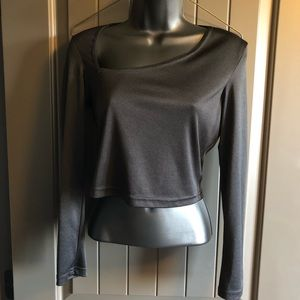Frederick's of Hollywood Crop Top Geometric Cut